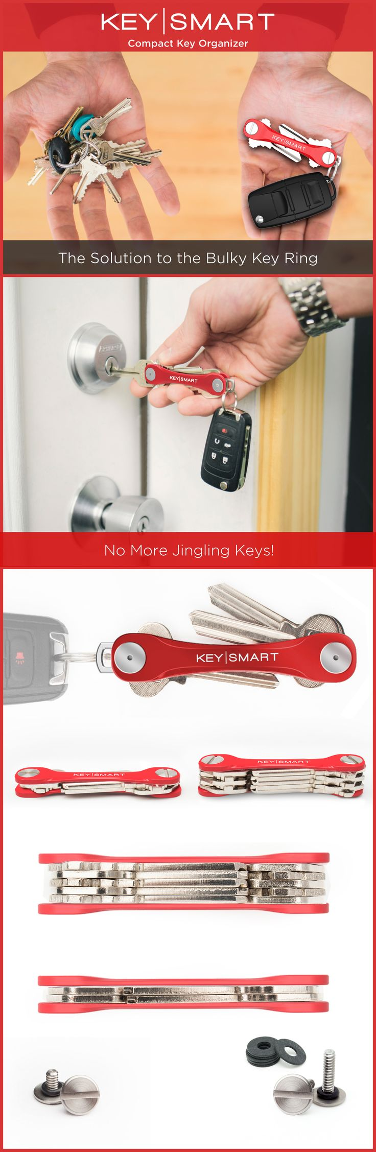 Check out this new way to organize your keys called the KeySmart! It's designed like a pocket knife and keeps your keys in a neat little stack rather than loose and messy key rings. Upgrade your every day carry. Use code ORGANIZE15 this month for 15% off!