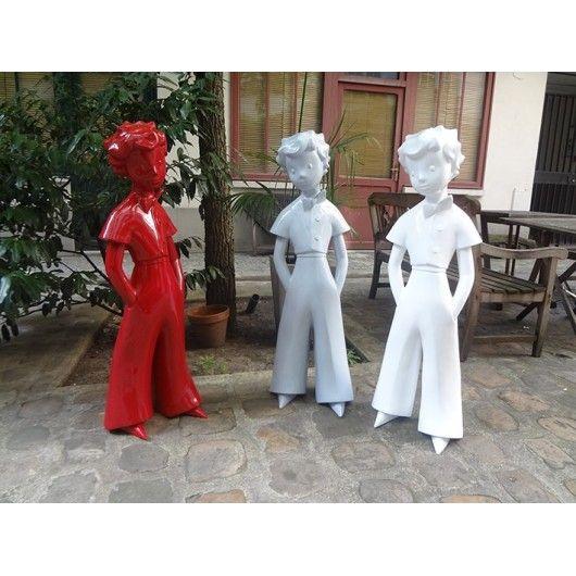 Sculpture design du Petit Prince - Blanc