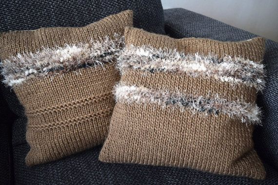 Handmade knitted pillows 45x45cm/18x18 inch by BlageCrochetDesign