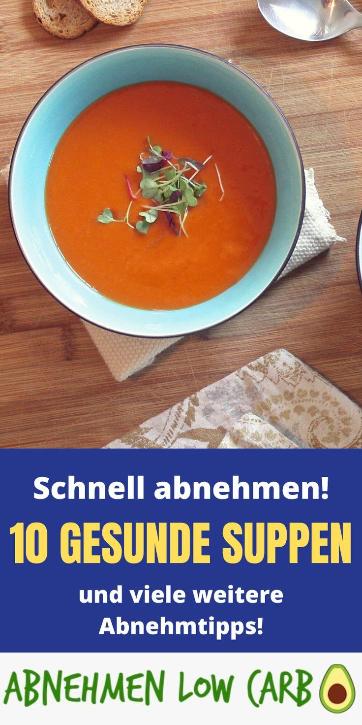 Fettverbrennende Suppe verlieren Gewicht, indem sie Fett essen