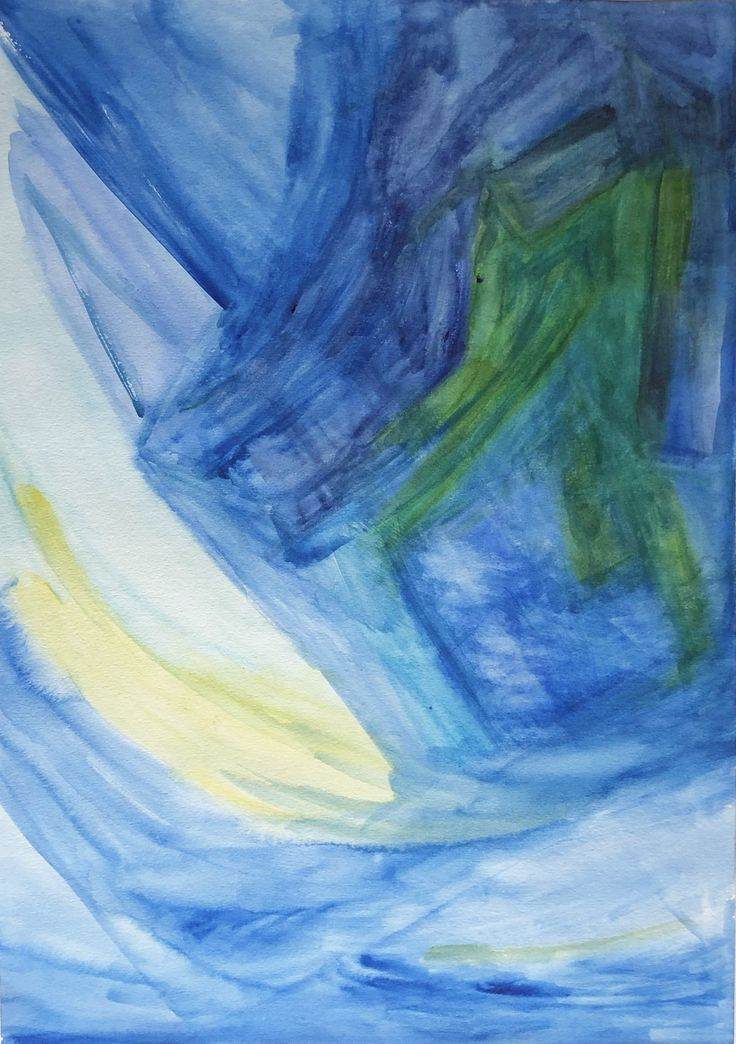 Untitled Contemporary Abstract in Blue Palette