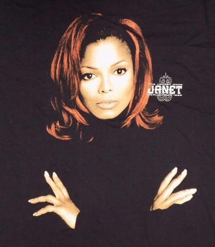 Janet Jackson The Velvet Rope World Tour Black 1998 Concert T Shirt Pop R&B #Unknown #GraphicTee