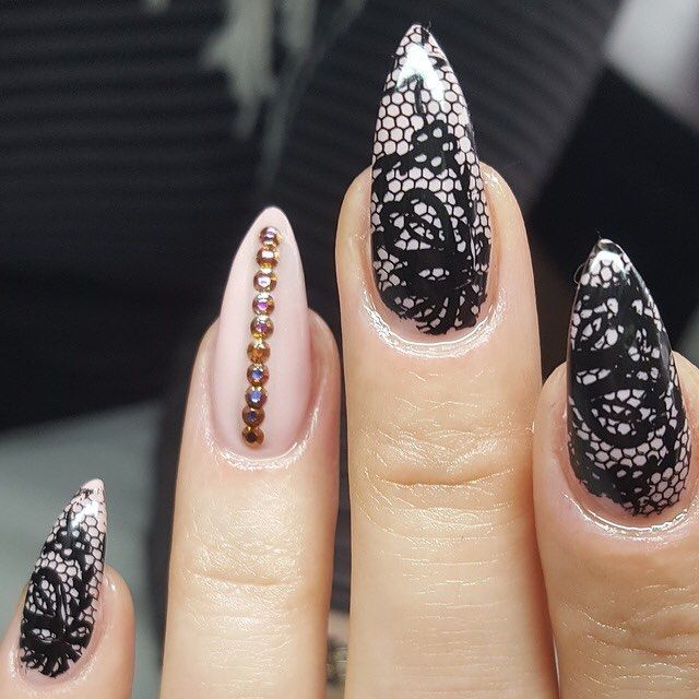 We #love the new #fishnets #nail #trend! Would you rock this #sexy #naildesign? Check out the Nail Upload of the Day on #Nailstyle by Sally Coetzer