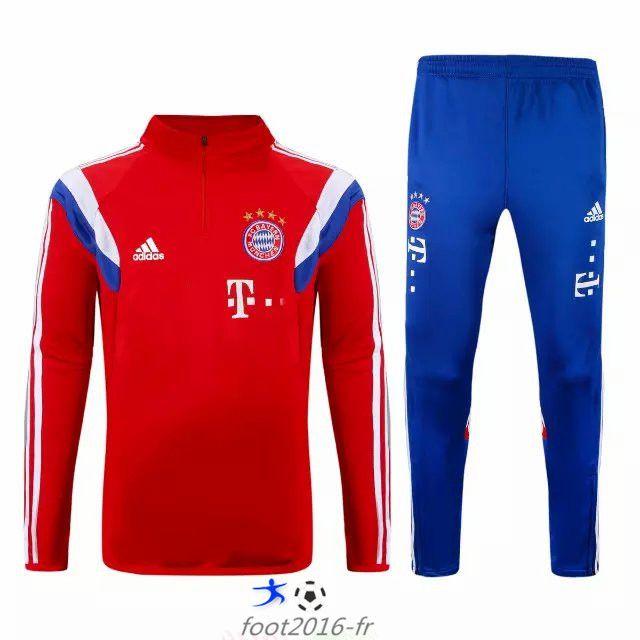 Site Officiel Nouveau survetement equipe de foot Bayern Munich Rouge 2015 2016 Thailande pas cher