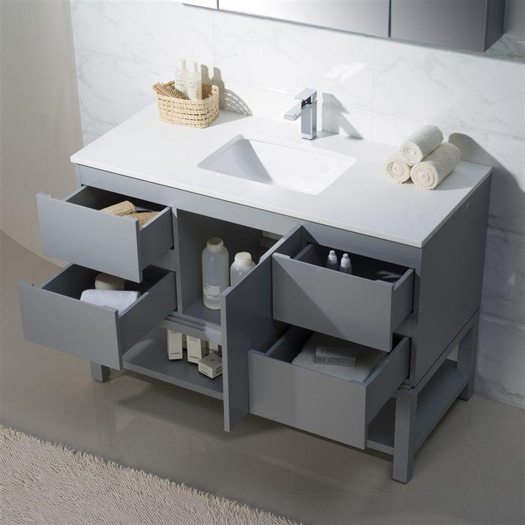 Web Image Gallery Modern Bathroom Vanity Emmet with Quartz Stone
