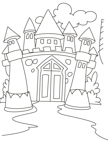 Castles Coloring Pages | Download Free Castles Coloring Pages for kids | Best Coloring Pages