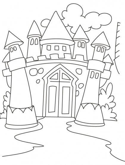 Castles Coloring Pages | Download Free Castles Coloring Pages for kids | Best Coloring Pages