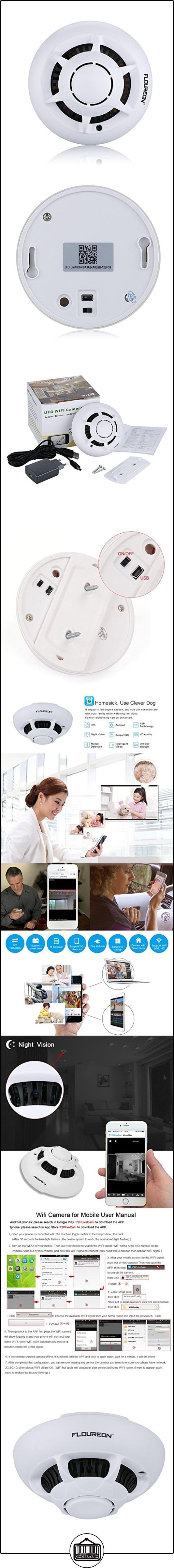 Floureon Camara Vigilancia Bebe (Incluye 16G Tarjeta TF, Visión Nocturna, Wifi, Iphone, Android, Windows, Mac), Blanco  ✿ Vigilabebés - Seguridad ✿ ▬► Ver oferta: http://comprar.io/goto/B019DPXJWI