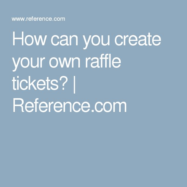 Mer enn 25 bra ideer om Custom raffle tickets på Pinterest - create raffle tickets in word