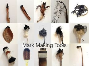 Mark Making Tools from Nature & Everyday Objects ~ The Visionary ART Workshop