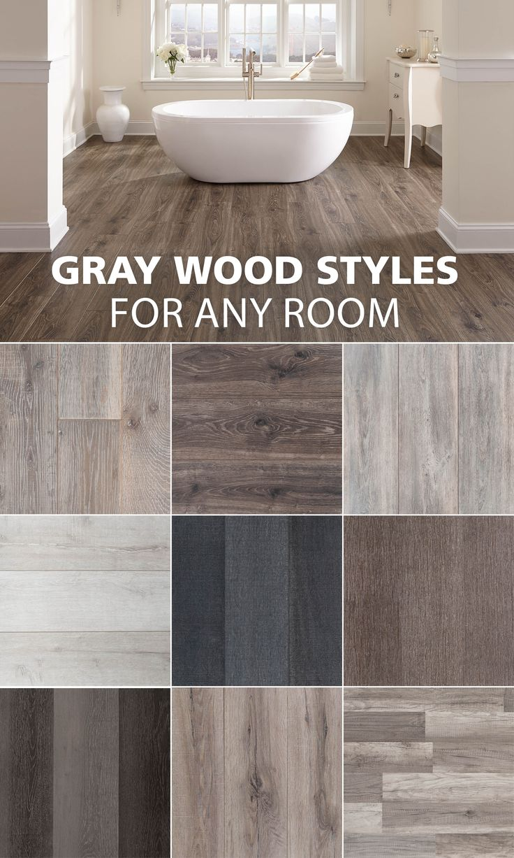 Here are some of our favorite gray wood look styles.