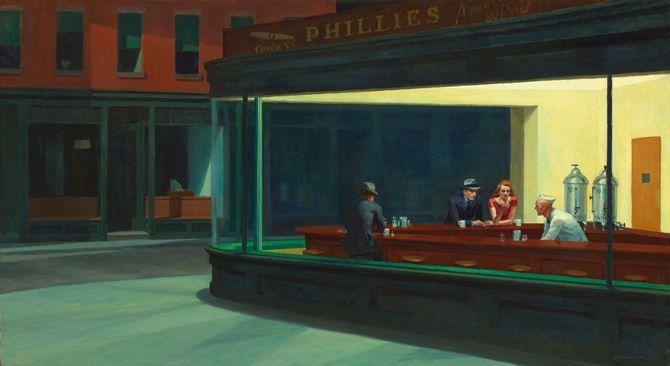 Nighthawks_by_Edward_Hopper_1942 NIGHTHAWKS – Gece Kuşları  Edward Hopper – 1882-1967 – ABD