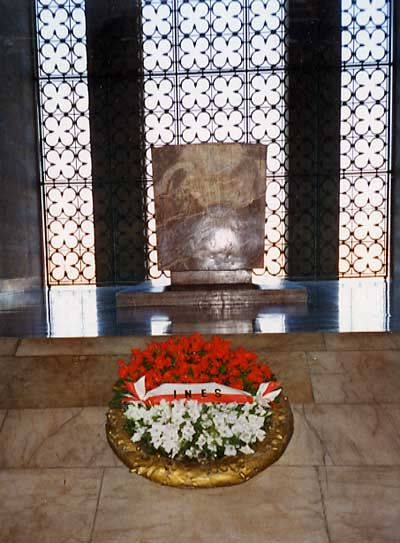 The Grave of Mustafa Kemal Ataturk in Adana, Turkey.