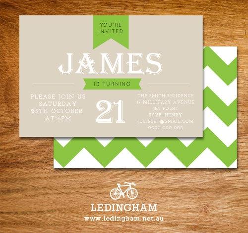 21st, 30, 40, 50th Invitations (Personalised DIY Printables).