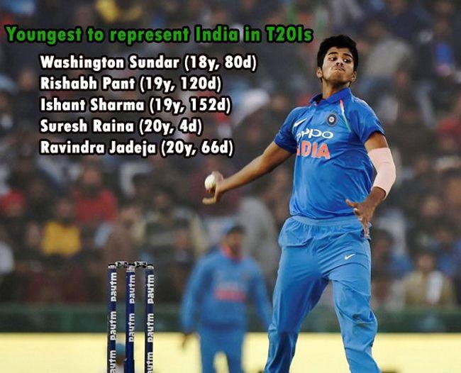 India Vs Sri Lanka Washington Sundar Youngest To Play For India In T20is Cricket Information Ravindra Jadeja Cricket News Sundar