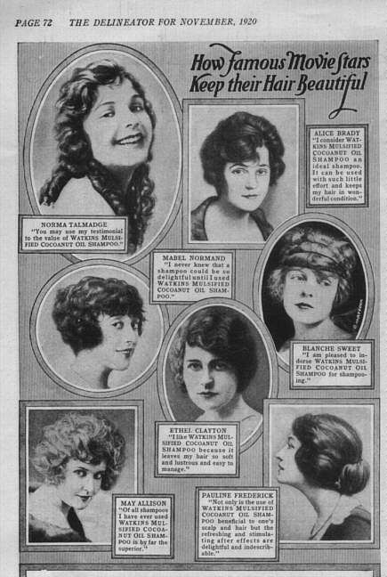1920 advertisement How Famous Movie Stars Keep Their Hair Beautiful