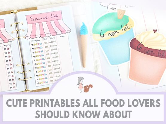 Cute Printables All Food Lovers Should Know About | www.sweetestchelle.com