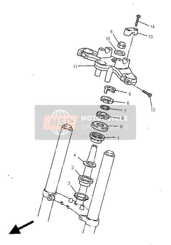 STEERING for 1998 Yamaha XJ600S DIVERSION