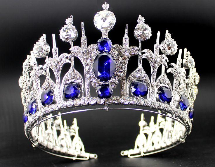 Tiara de zafiros de la reina Máxima de Holanda