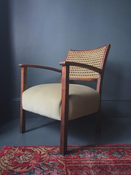 Amazing Art Deco Bergere Cane Armchair(s) – Homeplace