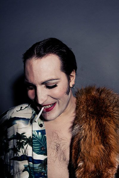 Noel Fielding - Glam: Noel Fielding recreating the U'lay image S'he 1972