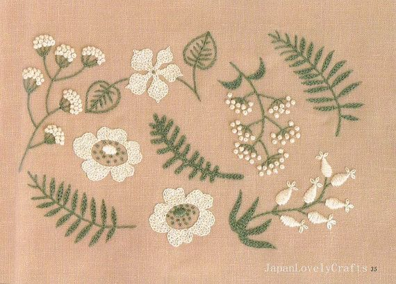 2 Colors Embroidery Pattern & Small Zakka by JapanLovelyCrafts