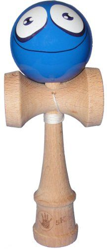 5K Kendama - Blue Silly Face, Extra String Included - List price: $22.95 Price: $14.95