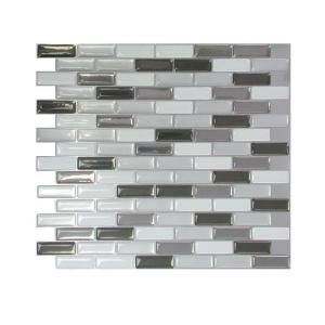 "Love this & even I can do this lol - Peel and stick ""pre grouted"" backsplash tile from SmartTiles ... neat concept can find at Lowes, Home Depot"
