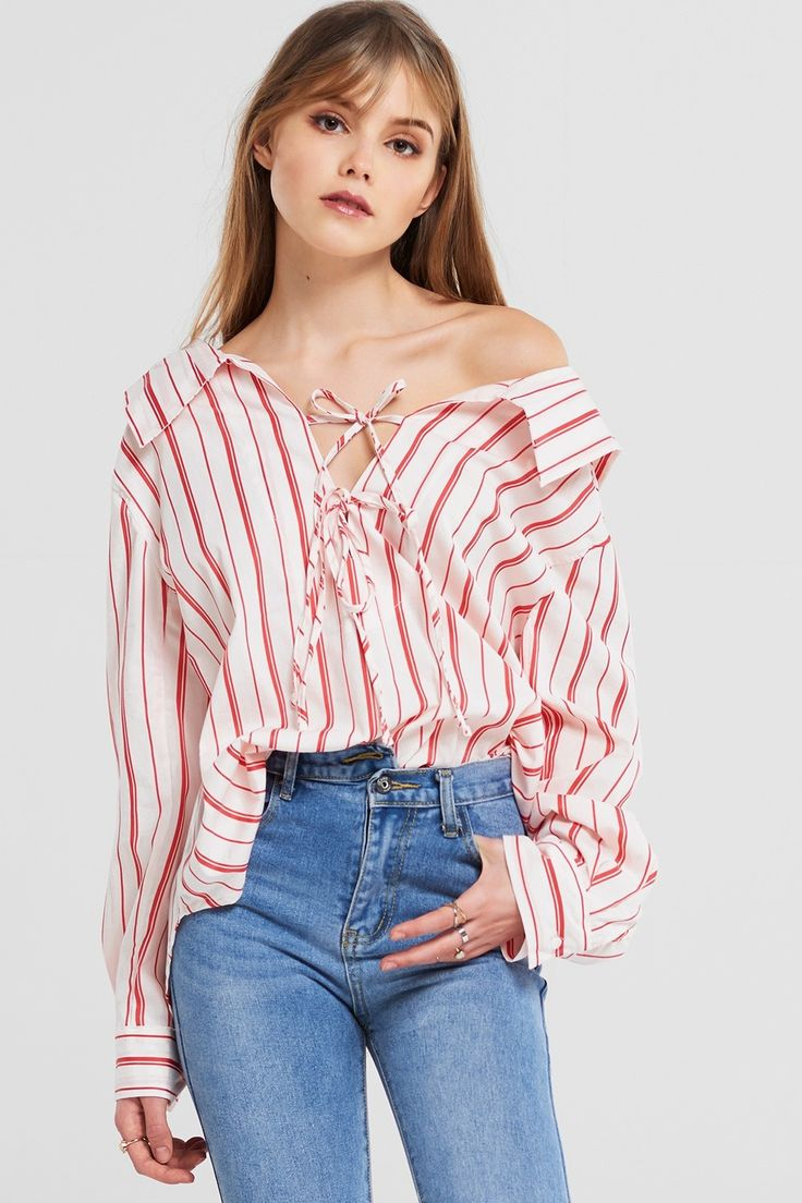 Brenda Stripe Blouse Discover the latest fashion trends online at storets.com