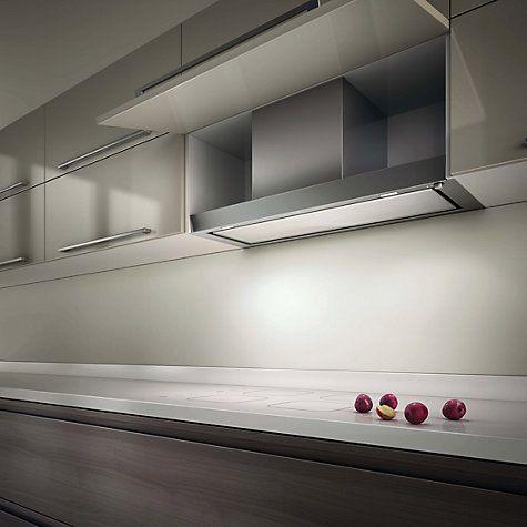 Buy Elica Hidden 60 Built-In Cooker Hood, Stainless Steel/ White Glass Online at johnlewis.com