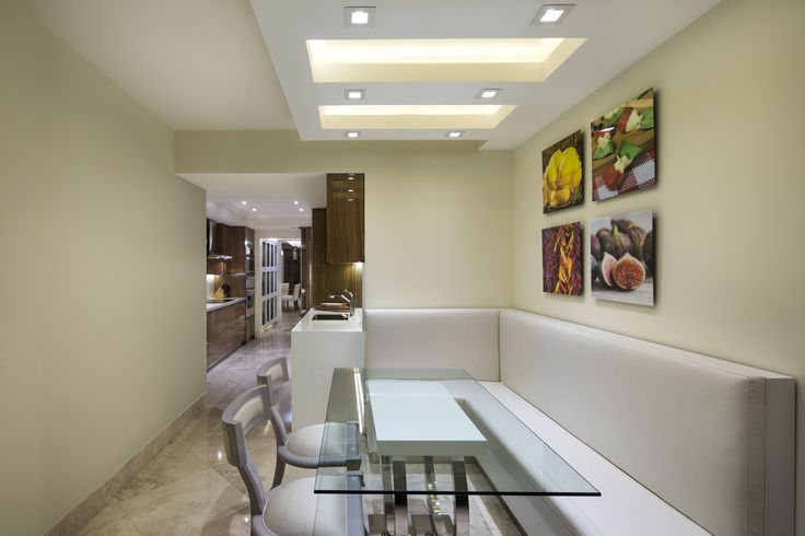 Designer: Sarah Zohar, Photo Credit: Paul Stoppi, The breakfast area at the Ocean Palms condo in Hollywood,FL
