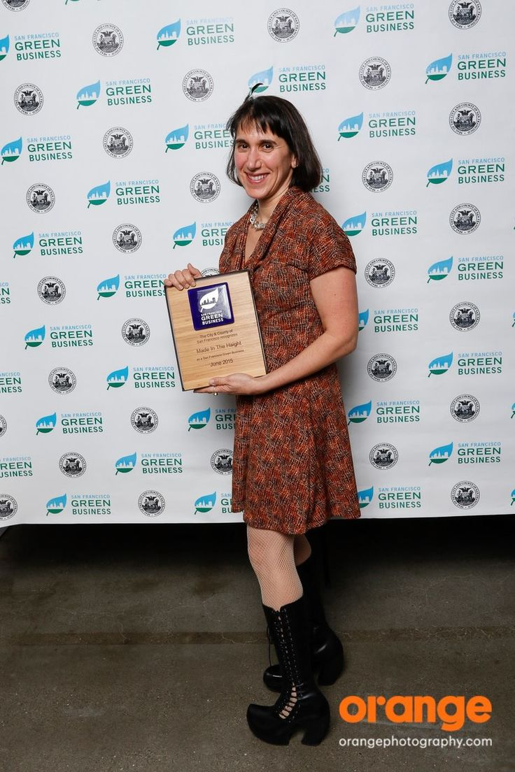 At the 2016 San Francisco Green Business Awards - in @Fluevogs!
