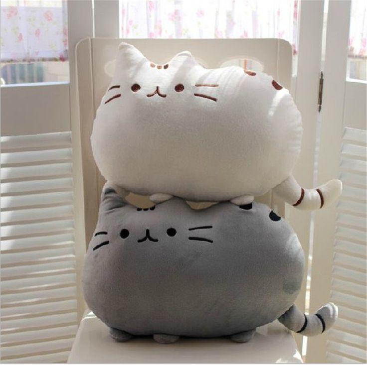 Cute animal Pillows | Cute Soft Cotton Pusheen shape Cat Pillow Cushion Plush Baby Toys ...