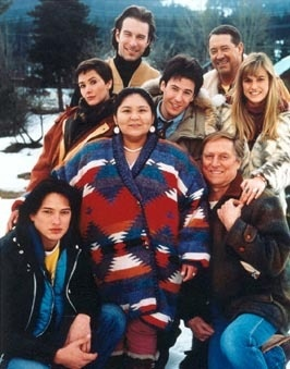 Cast of Northern Exposure. Rob Morrow (Joel), Janine Turner (Maggie), Barry Corbin (Maurice), John Cullum (Holling), Darren E. Burrows (Ed), John Corbett (Chris), Cynthia Geary (Shelly), and Elaine Miles (Marilyn).