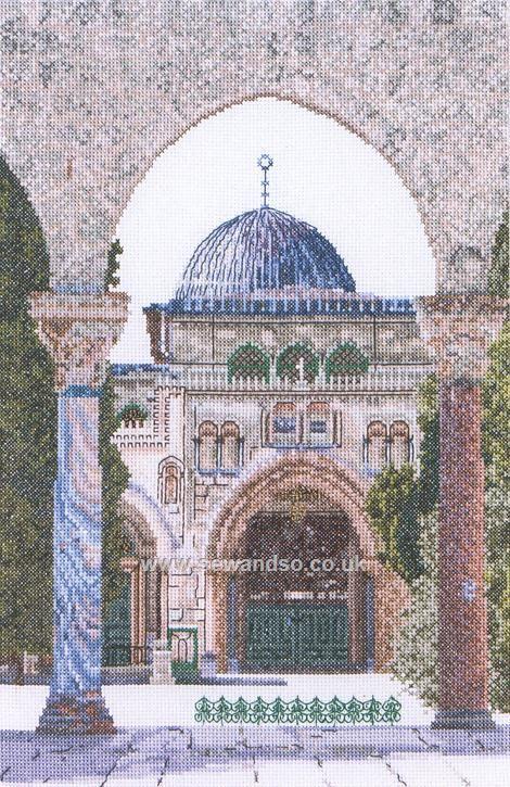 Buy Aqsa Mosque, Jerusalem Cross Stitch Kit Online at www.sewandso.co.uk