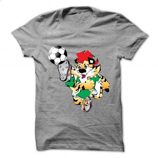 Cartoon tiger playing football - #funny t shirts #hooded sweatshirt dress. I WANT THIS => https://www.sunfrog.com/Sports/Cartoon-tiger-playing-football.html?60505
