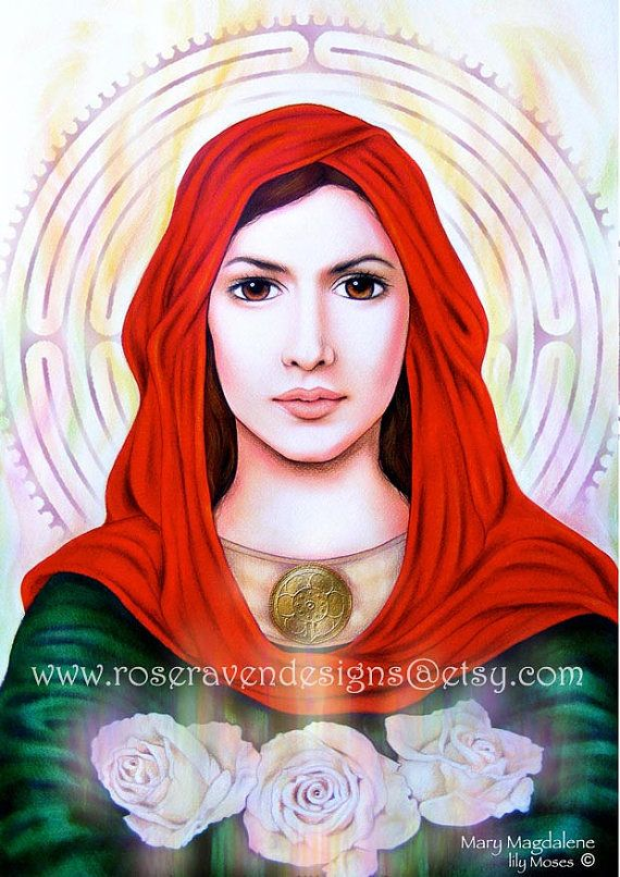 This artwork is absolutely beautiful. Her eyes are so striking! The 'Mary Magdalene' © Rose Raven, roseravendesigns.