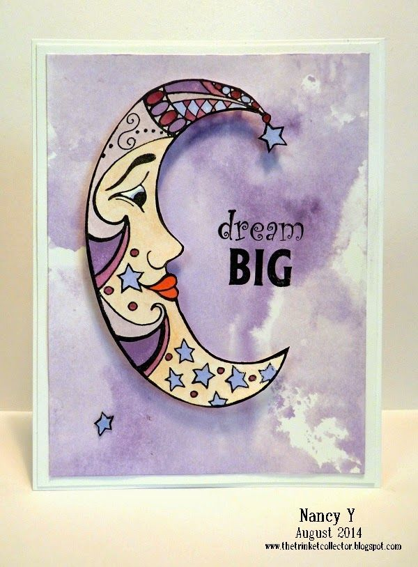 Dream Big card ~ Just For Fun Rubber Stamps