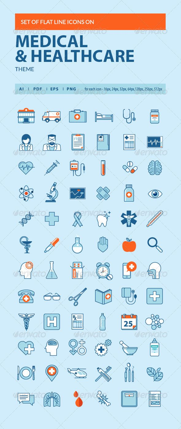 Set of Flat Line Icons on Medicine Theme | Buy and Download: http://graphicriver.net/item/set-of-flat-line-icons-on-medicine-theme/8371036?WT.ac=category_thumb&WT.z_author=PureSolution&ref=ksioks