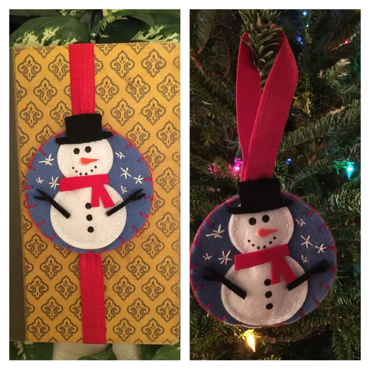 A personal favorite from my Etsy shop https://www.etsy.com/listing/481222294/blue-christmas-snowman-felt-bookmarkalso