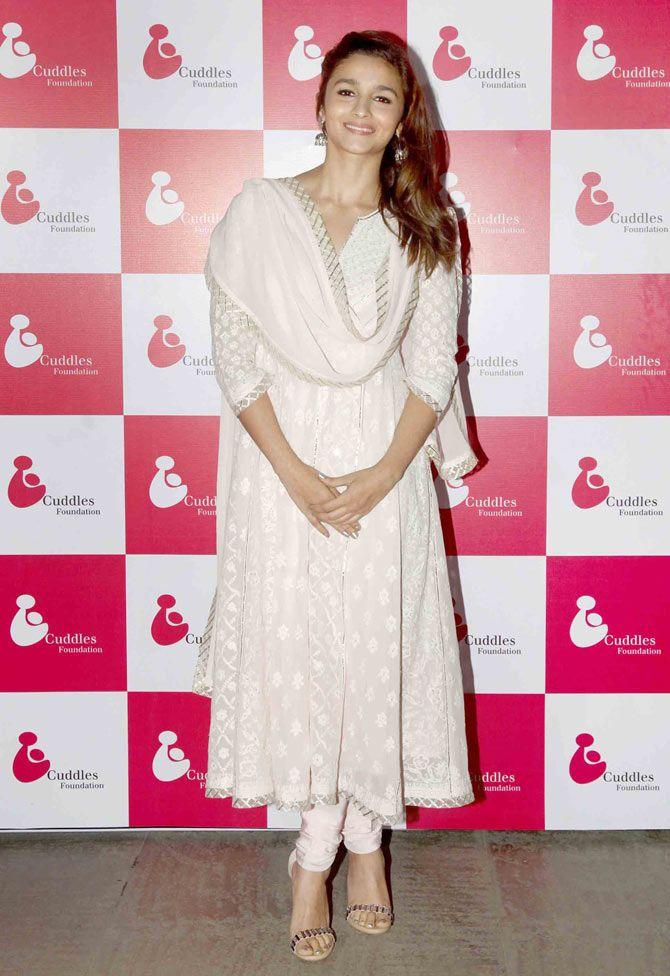 Alia Bhatt at a charity fundraiser.