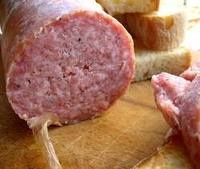 Ciauscolo is a wonderful soft Salami from Le Marche, Italy.