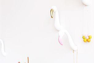 DIY: Maak zelf deze leuke flamingo muurhaakjes