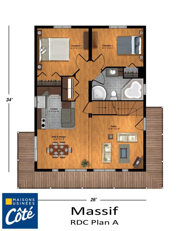 Plan de maison usinee cote for Plan de maison cote