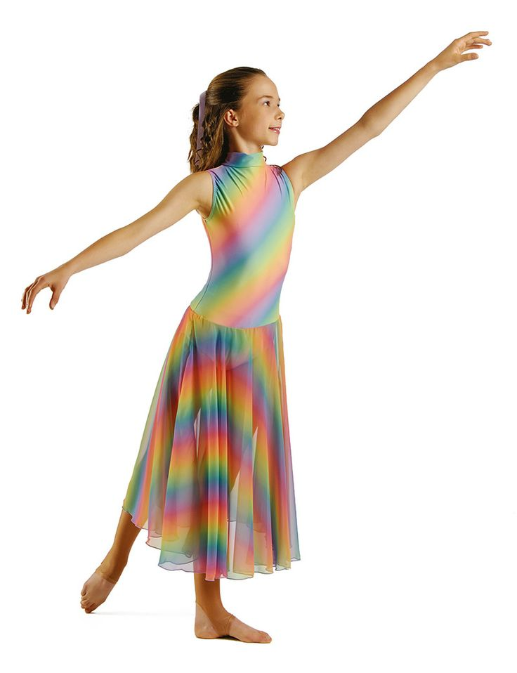 As you can see from the picture this costume is full of colours and very stunning. The leotard has a keyhole back feature and the skirt is georgette. Due to the vast amount of colour we don't feel you need to add anything to this dress, it's very pretty and bright as it is.