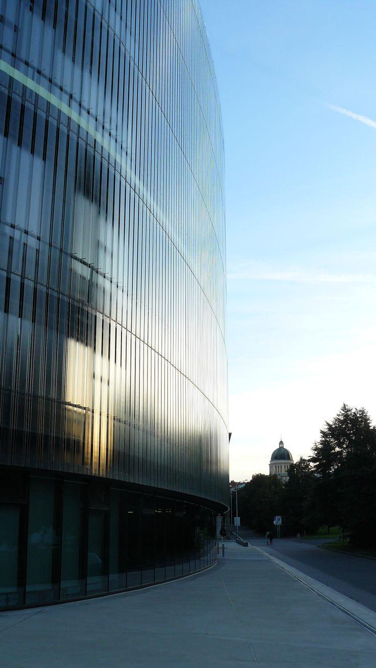 National technical library, exterior, Prague; Czech republic