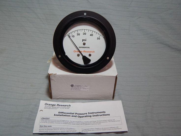 Orange Research 1203PGS Differential Pressure Gauge 0-50 72747 New #OrangeResearch