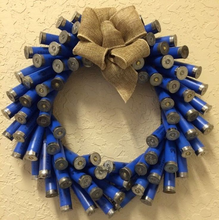 Shotgun Shell Wreath w 12 Gauge Blue Shotgun Shells | eBay
