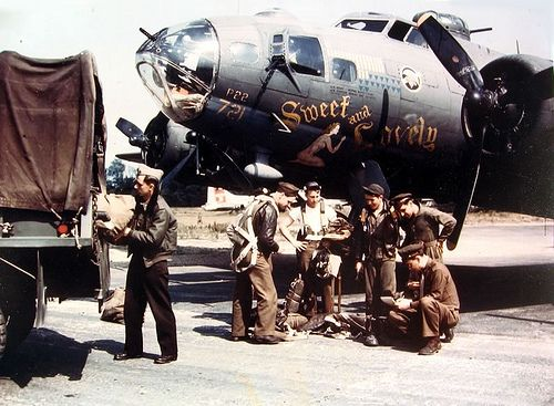 """""""Sweet and Lovely""""  Boeing B-17F-115-BO Flying Fortress, 533rd Bomb Squadron, 381st Bomb Group, 8th Air Force"""