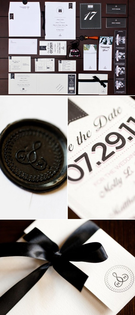 really like this wax seal - very cool. mix of old and new. classic and chic.